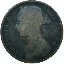 1891 ONE PENNY GB UK QUEEN VICTORIA BEAUTIFUL COLLECTIBLE COIN      #WT31308
