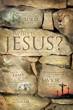 WHO IS JESUS? 10 Christian Bible Verses about Jesus Christ Inspirational POSTER