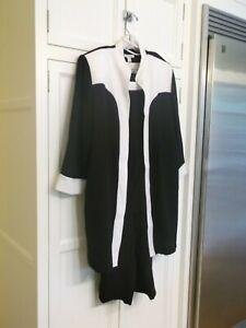 Dress Barn Woman 3 Piece Pants Set, Black & White Size 20, EUC
