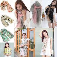Klassische Frauen Mode Ziemlich Weich Chiffon Schal Wrap Schal Stola Schals