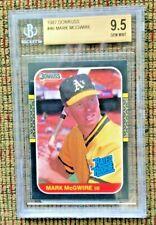 1987 DONRUSS,  #46 MARK McGWIRE,  Rated Rookie Card,  BGS 9.5 ***GEM MINT***