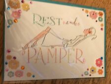 """NIP PAPYRUS HAPPY MOTHERS DAY CARD $6.95 """"Rest And Pamper"""" Mom Mother's New"""