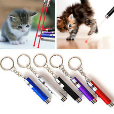 Hot Random Color 2 in 1 Red Laser Pointer Pen Funny LED Light Pet Cat Toys NT