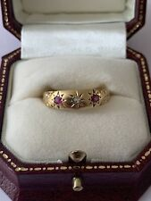 Antique/Victorian-Superb 18ct Gold/Ruby/Diamond Ornate Ring Size S