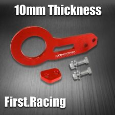 JDM Red Anodized Billet Aluminum Racing Rear Tow Towing Hook Kit CNC Paint
