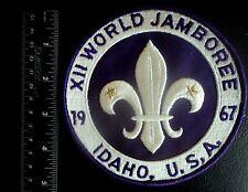 VERY LARGE 12th World Boy Scout Jamboree Jacket Badge  1967 Idaho USA