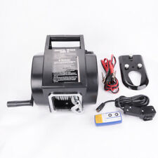 MA8 Universal 5000LB Marine Boat Electric Winch 12V Steel Cable Rope Towing Kit