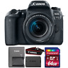 Canon EOS 77D 24.2MP DSLR Camera with 18-55mm IS STM Lens and 64GB Memory Card