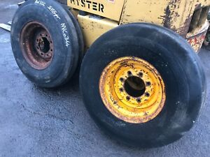 Ford Digger 13/6 550 555 4550 Front Rims & Tyres NVC 0364 Excavator Tractor