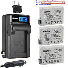 Kastar Battery LCD AC Charger for Canon LP-E8 LC-E8 & Canon EOS 600D Camera