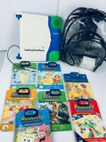 LeapFrog School House with 7 Books + Cartridges, Adapter and Carrying Backpack.