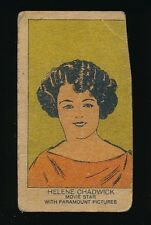 1920's W-Uncataloged Actor Strip Cards (3 lines text) -HELENE CHADWICK