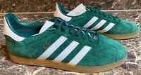 Adidas Gazelle Men's US 9.5 Shoes Collegiate Green Cloud White Gum DA8872 NEW
