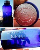 🔴 RARO CONTENITORE EFFERVESCENTE ACHILLE BRIOSCHI PRIMO '900 CON STEMMA SABAUDO