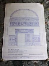 Rare #22 Villard House Music Room Poster Historic American Buildings Survey 1977