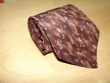 Croft & Barrow Tie Burgundy Floral 57L 3 3/4W 100% Imported Silk Made In USA T-5