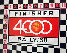 1968 Gehäuse 4000 Rally GLAS Aufkleber - BMC 1800 Gordini Porsche 911 Datsun 510