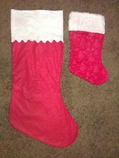"""17 34"""" Red/White Christmas Stockings (with Bonus)"""