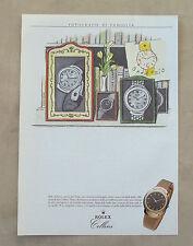 F087 - Advertising Pubblicità - 1992 - ROLEX CELLINI