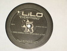 "LILO everything 12"" RECORD CHRIS DOMINGO BREAKS / CS JAY TRANCE"