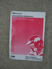 2002 Honda Trx300Ex Sportrax 300Ex Atv Motorcycle Owner Manual More In Store! S
