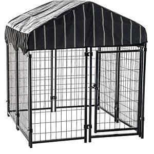 Outdoor Dog Kennel Tarp Cover Heavy-Duty Pet Enclosure Backyard Garden Shelter