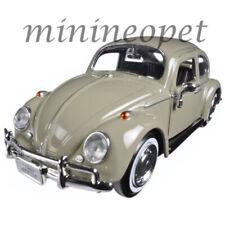 MOTORMAX 73223 1966 66 VW VOLKSWAGEN BEETLE 1/24 DIECAST MODEL CAR BEIGE
