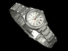 Seiko 5 Classic Ladies Size White Dial Stainless Steel Strap Watch