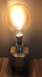 Fabulous Art Deco Style Wooden Marquetry Table Lamp