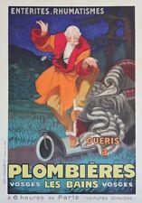 """""""PLOMBIERES LES BAINS"""" Affiche originale entoilée Litho Jean d'YLEN 1931"""