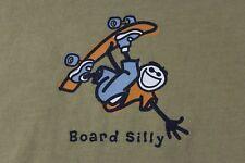 Life is Good Boy's XL green skateboard 'Board Silly' shirt