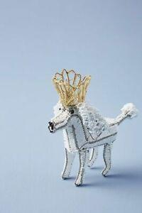 Anthropologie Regal Poodle Ornament-$30 MSRP