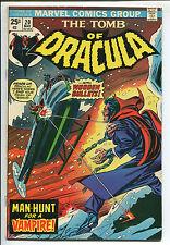 Tomb of Dracula #20 - Man-Hunt for a Vampire! - 1974 (Grade 6.5)