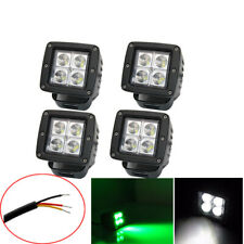 4pcs 3inch Offroad Led Work Light Cube Pods Spot Green/White Dual Color Driving