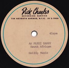 Jeremy Taylor Rare UK Acetate Ah pleez daddy VG+ '62 Sth African Folk Pop