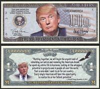 Lot of 25 BILLS - Donald Trump Presidential Million 45th President Dollar Bill