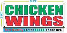 CHICKEN WINGS Banner Sign NEW Larger Size Best Quality for the $$$$$ RWG