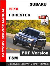SUBARU FORESTER 2010 OEM MAINTENANCE SERVICE REPAIR WORKSHOP FACTORY MANUAL
