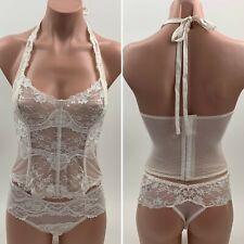 NWT Victoria's Secret Corset Bralette Bra / Thong Set  Size XS  Ivory