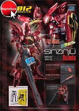 "G-System 1/72 MSN-06S ""Sinanju"" w. Rocket Bazooka Multi-Color Version(Unpainted)"