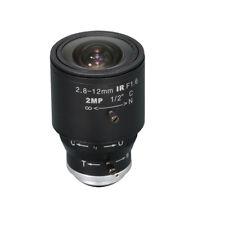 "Camera Varifocal Lens 2MP FL 2.8-12MM F1.6 HFOV 98°-30.5° C Mount 1/2"" Format"