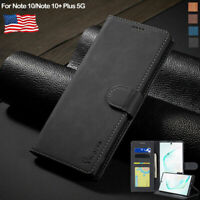 Magnetic Leather Flip Wallet Case Stand Cover For Samsung Galaxy Note 10 Plus 5G