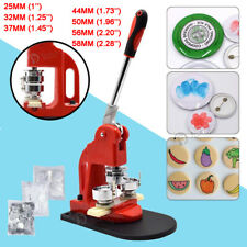 Badge Press Machine Pin Button Maker +300 Sets Button Supplies +Circle Cutter