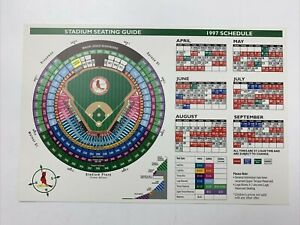 St Louis Cardinals Baseball Stadium Seating Guide 1997 Schedule