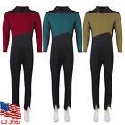 The Next Generation JL Picard Red Uniforms Data Gold Jumpsuit Starfleet Costumes