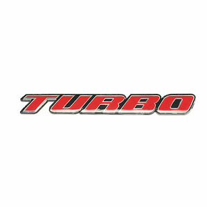 Turbo Emblem Plastic Red logo sticker badge decal front rear 3D New