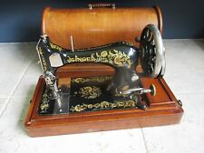 1902 model Singer 28k Ottoman Carnation Hand Crank sewing machine & accessories