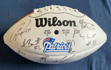 1997 New England Patriots Team Signed Football Drew Bledsoe Custom Letter COA