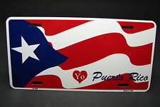 PUERTO RICO FLAG METAL ALUMINUM CAR LICENSE PLATE TAG