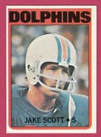 1972 Topps Football # 193 Jake Scott - Dolphins - Box 734-231